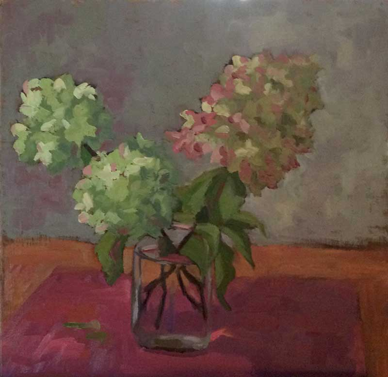 Hydrangeas painting at Artsbridge Summer Arts Festival 2016