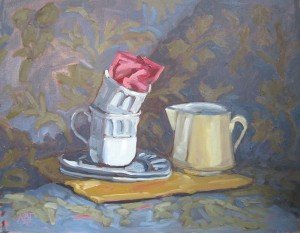 "STILL LIFE ""Teatime is Over"""