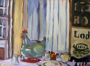 Still LIfe Chicken still life oil painting