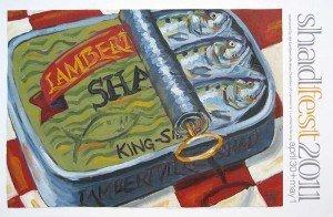 oil painting for Lambertville Shadfest 2011