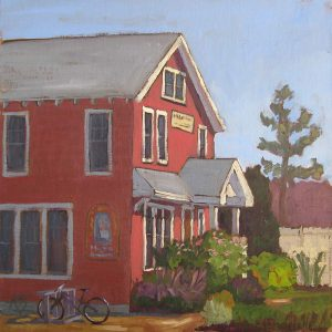 "plein air oil painting ""Cape May General Store"" New Jersey"