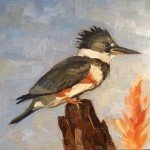 female kingfisher oil paintings of birds