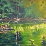 "landscape oil painting ""Green Tranquility"""