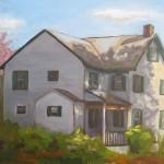 "plein air oil painting ""Shadowplay"
