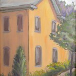 "plein air oil painting ""Orange House in Lambertville"""