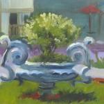 "plein air oil painting ""Stockton Urn"" New Jersy"