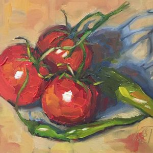 tomato oil painting