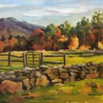 landscape painting of the mountains in New Hampshire