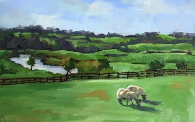 Ireland inspired Landscape Painting