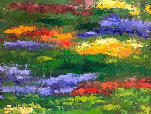 abstract garden painting