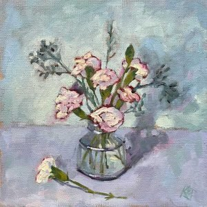 carnation still life oil painting